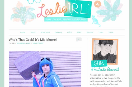Featured on www.leslieIRL.com!