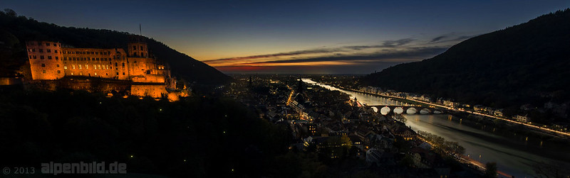 Heidelberg at Night - Panorama