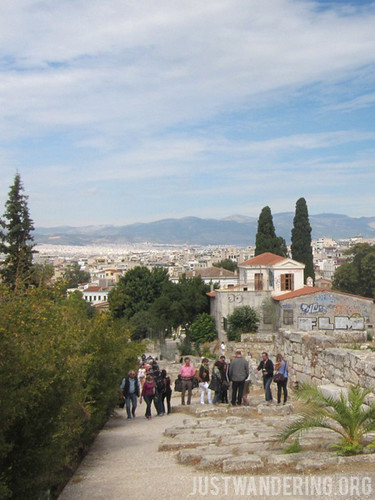 Walking up from the Ancient Agora to the Acropolis