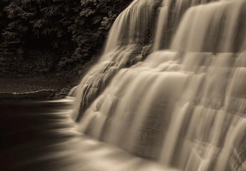 longexposure bw newyork monochrome waterfall ithaca hdr roberthtremanstatepark platinumtoned
