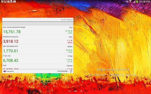 Lock screen ของ Samsung Galaxy Note 10.1 2014 Edition