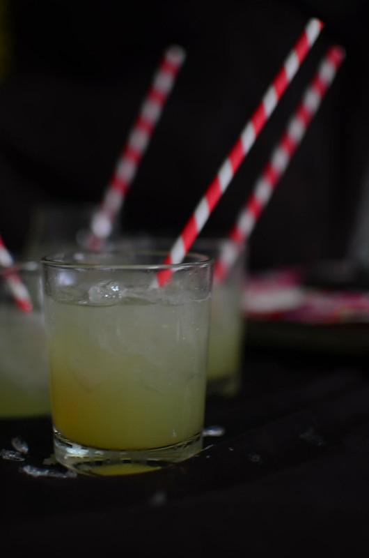 sugarcane juice on ice, ready for drinking