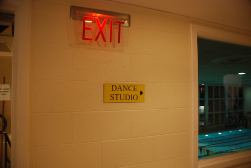 ...and the (sign for the) dance studio.