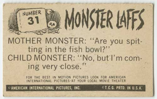 1963 Topps Monster Laffs Midgees #31 back