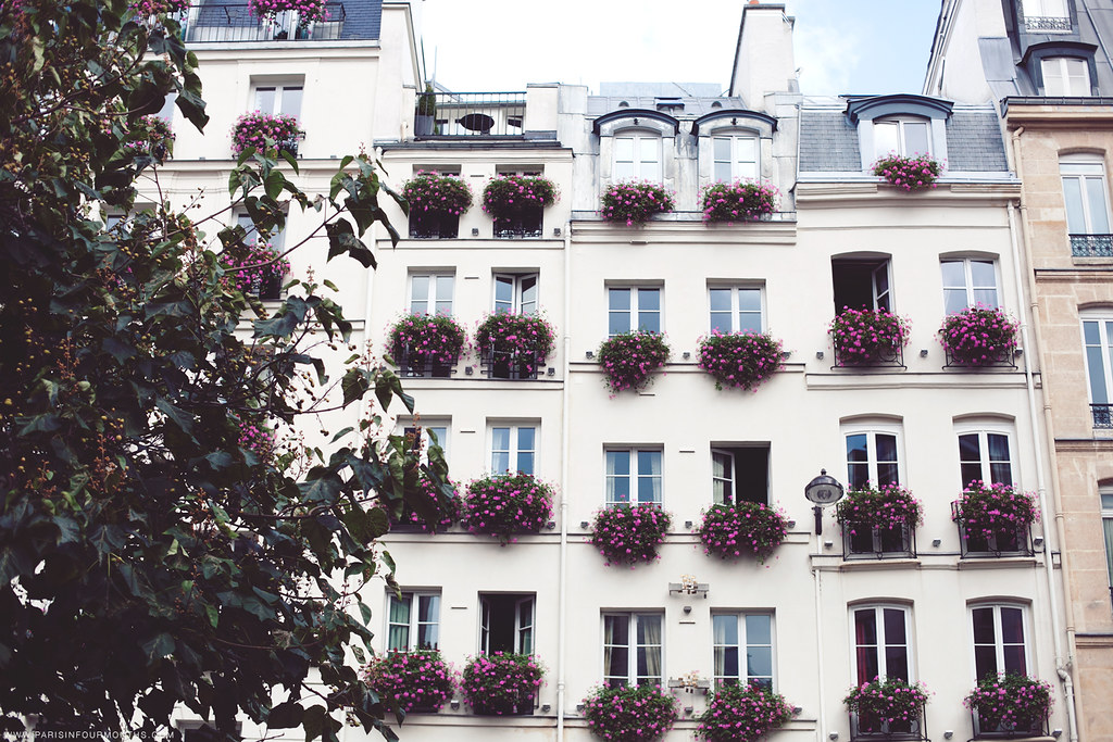 Pretty Pink Flower Boxes