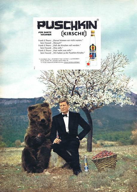 Team-Werbeagentur (Düsseldorf, DE) Wilp (Charles, DE - AD-Ph) 1964 Puschkin Kirsche Anzeige