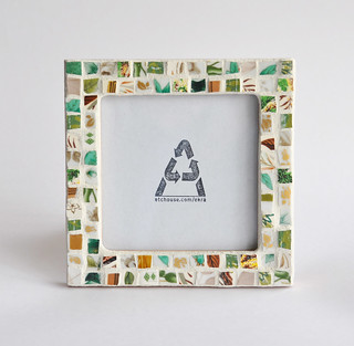 Green and Brown Jumble Frame