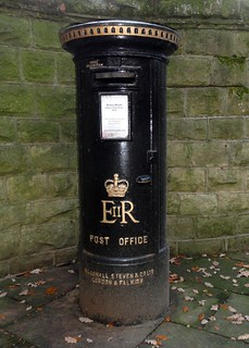 Private ELizabeth II Black Pillar Box, Ilkley