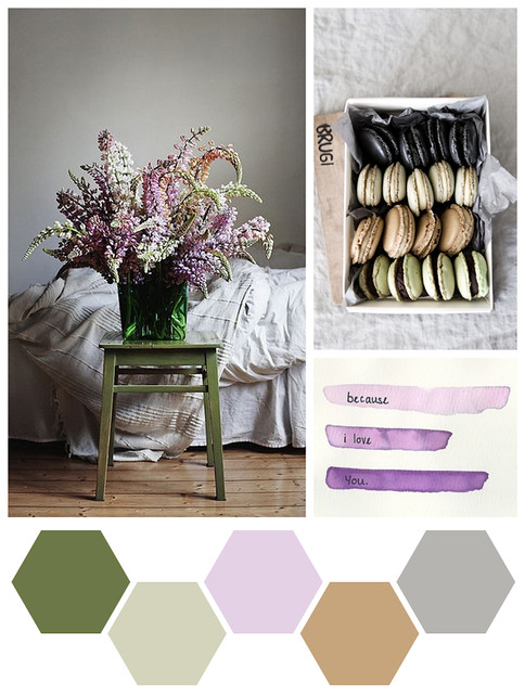 Color Me : Moss, Linen, and Lilac