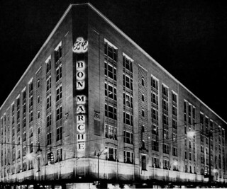 The Bon Marche at night