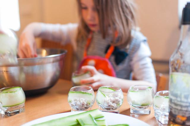 Anna aan het koken