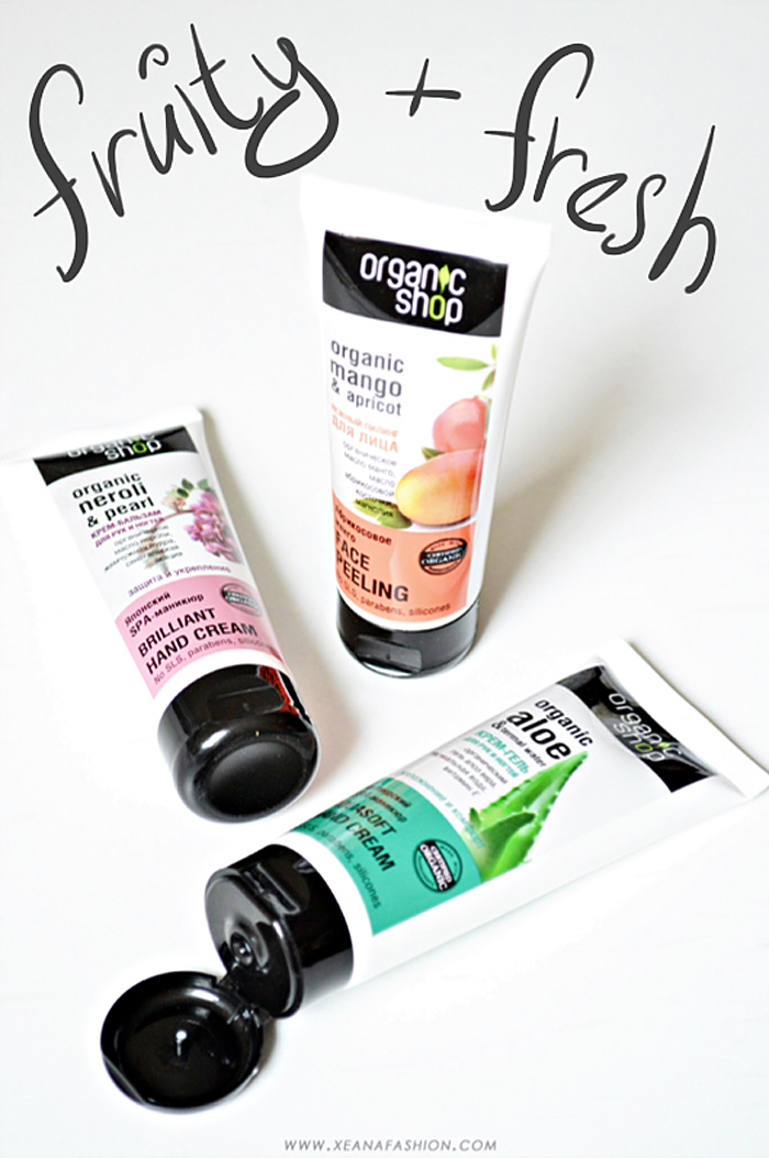 Overview hand cream and face peeling