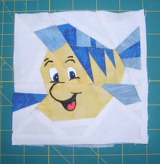 Princess 1 quilt block 2014 Border Flounder 001