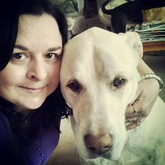 Morning selfie with my big guy #love #ilovemydogs #bigdog