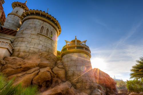 sea castle ariel sunrise orlando eric unitedstates florida fav50 magic under kingdom prince disney mermaid wdw hdr fantasyland fav25