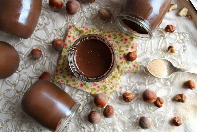 Petits pots de crème chocolat-noisette