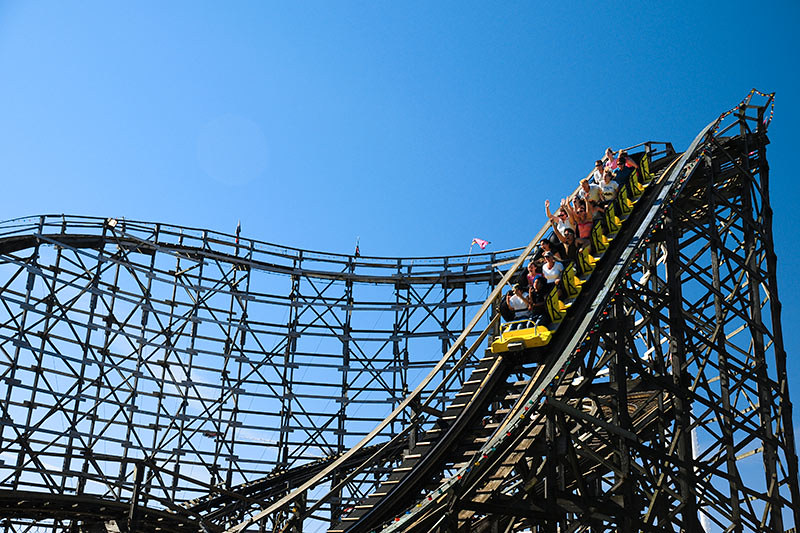 Wooden Roller Coaster at Playland Amusement Park, PNE Fairgrounds, Vancouver, British Columbia, Canada