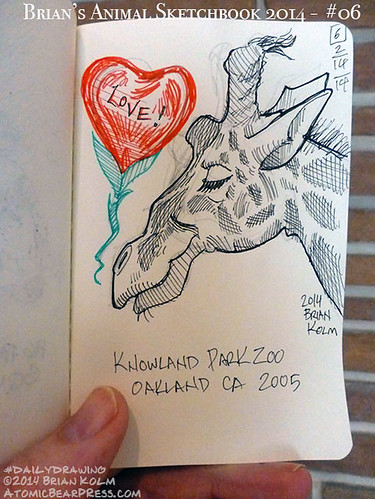 02-14-2014 #dailydrawing #animals Giraffe valentine
