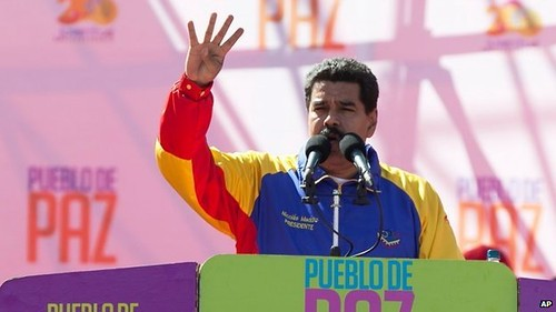 Bolivarian Republic of Venezuela President Nicolas Maduro has called upon the people to defend the Revolution. Anti-government protests have taken place inside the country. by Pan-African News Wire File Photos
