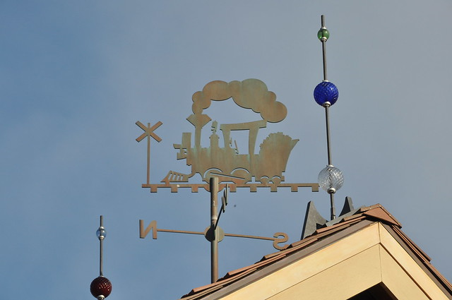 Train weather vane