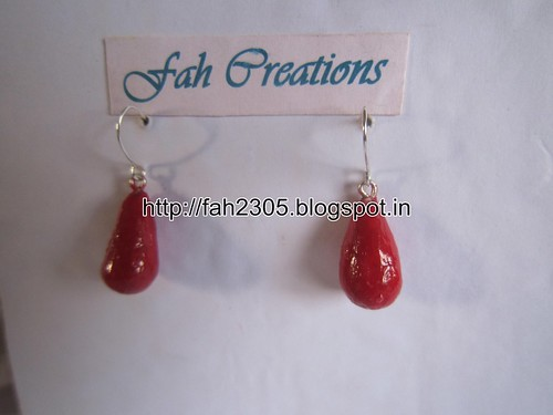 Handmade Jewelry - Modeling Clay Beads Earrings (1) by fah2305