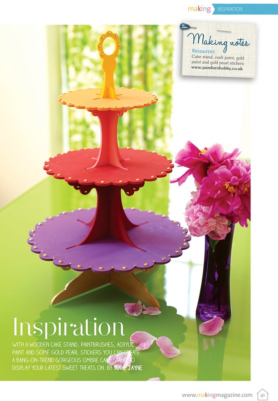 Cake stand as seen in Making Magazine