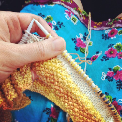A little knitting