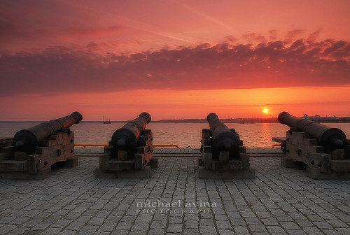 sunrise canon harbor tallinn estonia fuji seashore xe1