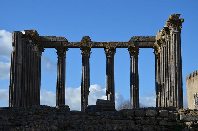 The Roman Temple of Évora, Ebora, Lusitania, Portugal