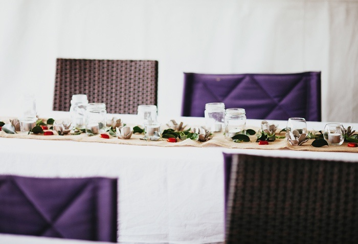 Backyard Wedding - table setting