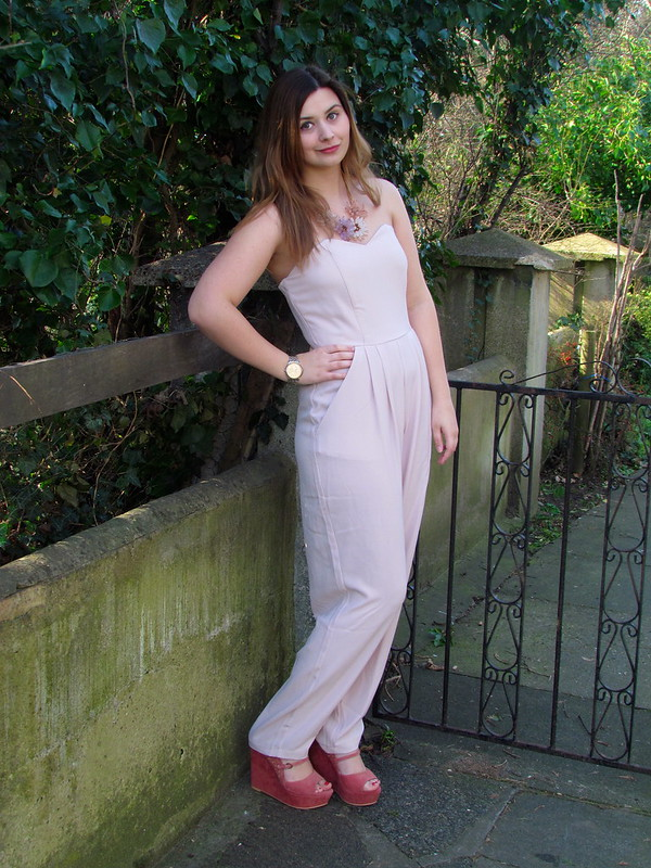 In Love With Fashion Baby Pink Jumpsuit