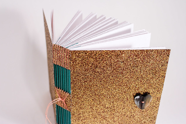 Custom Glitter Handmade Button Hole Book-9