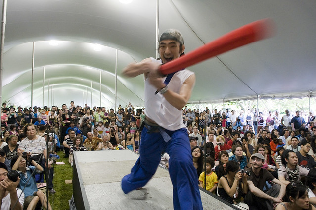 Master of ceremonies Yoshi Amao. Photo by Jason Gardner.