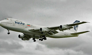 Iran Air 747-100 London Heathrow 2008 EP-IAM