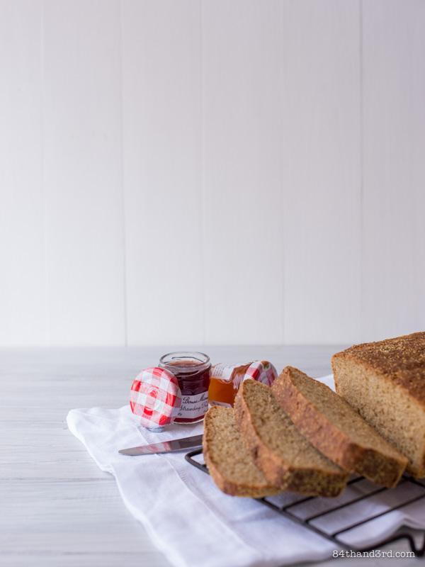 Honey Wholewheat English Muffin Bread