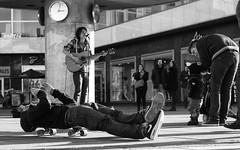 Street Musician and Skater