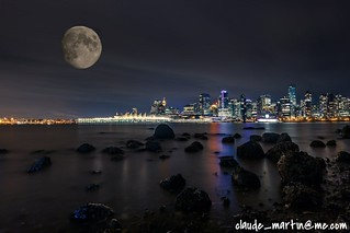 Vancouver under the moon