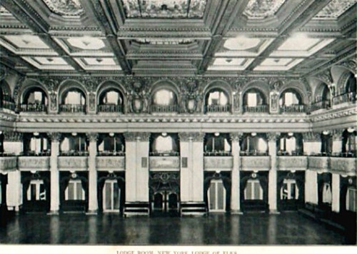 Elks Lodge No. 1/ Hotel Diplomat, NYC, NY (Grand Lodge Room/ Crystal Ballroom)(001)