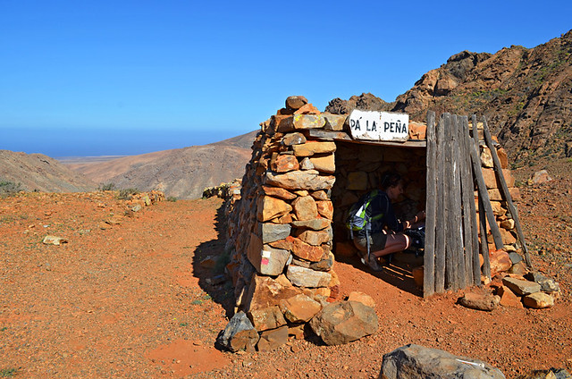 Shelter at a Degollada on Fuerteventura