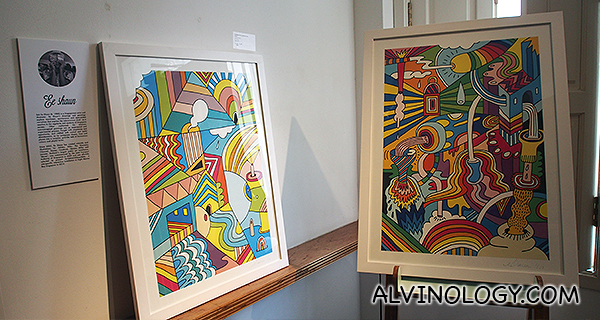 Prints by local artist, Soh Ee Shaun