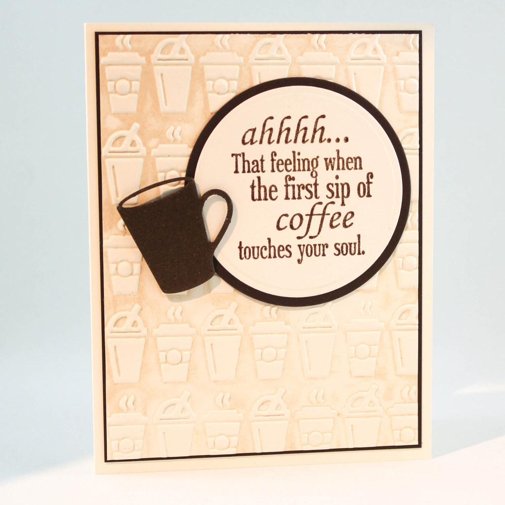 Handmade Blank Coffee Card