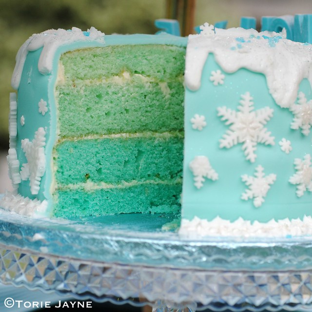 Inside the gluten free 'Frozen' birthday cake