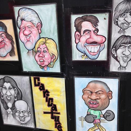 Caricatures at Place Jacques Cartier