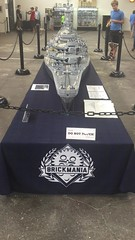 Largest Lego USS Missouri at Brickmania