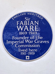 Photo of Fabian Ware blue plaque