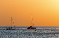 Sunset with yacht and catamaran. Phuket               AD4A5544s