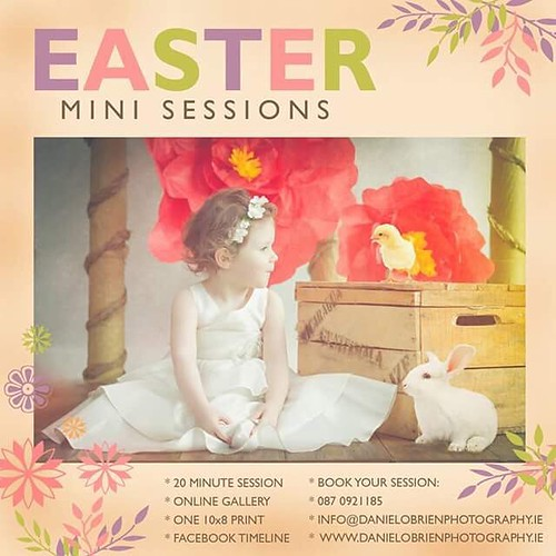 Easter Mini Sessions!!!! Special offer only €40 - limited spaces available. Contact me to book and tag someone who love one! #happyeaster #happyeasterbunny #theeasterbunny #happyeasterphotoshoot #minisession #craughwell #galwaygirl #galwayphotographer #da