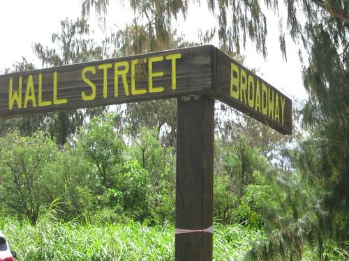 tinian mariana island road street sign kummerle