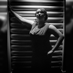Impromptu model shoot that broke out at a wedding, part one. Video about how it happened coming soon.  Model: @toxin_666  #samsungnx300 #photography #blackandwhite #model #BW