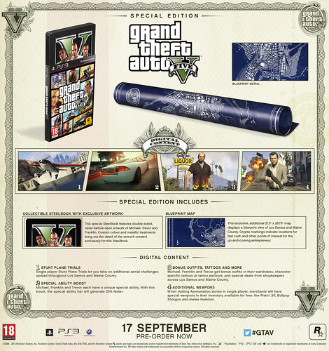 Grand Theft Auto V Special Edition and Collector's Edition